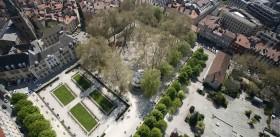 Vue aérienne du jardin de ville